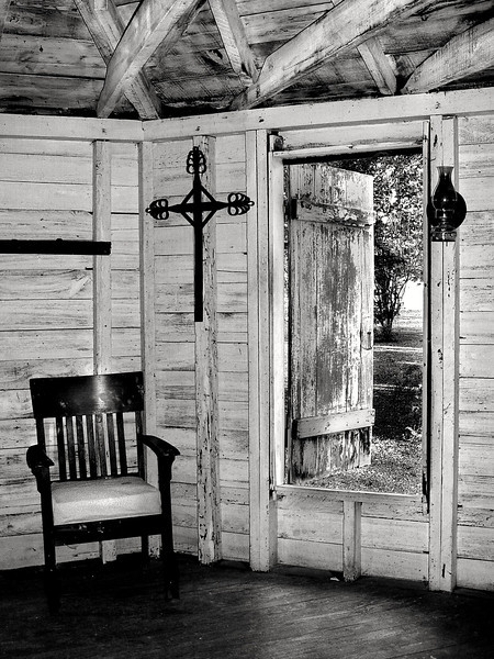 Country church, Rural Life Museum, Louisiana State University, Baton Rouge.