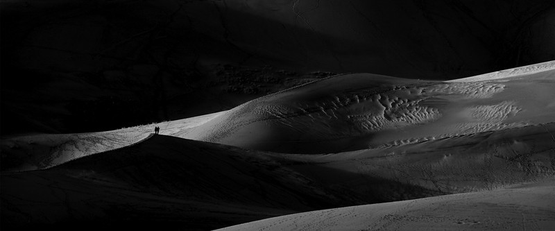 Standing in the shadows the the Great Sand Dunes National Park