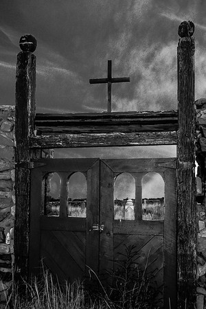 Galisteo Cemetery Gate in New Mexico