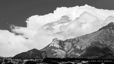 Afternoon Mtn Clouds; 10 frames 10 sec apart