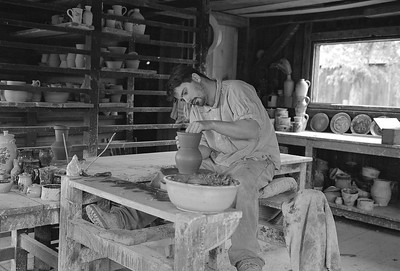 Potter at Genesee Country Museum. This image was  printed by the D&C as a quarter page image in Capture Rochester 09.