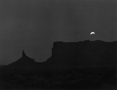 Luner eclipse Monument Valley Silver Halide print