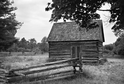 One room house at Genesee Country Museum.