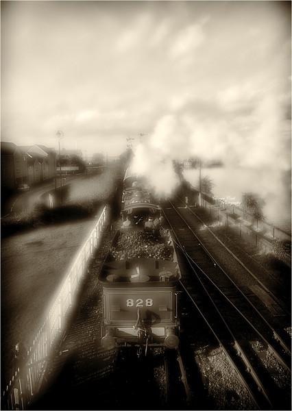 Through the Steam at Bo'ness Station - 4 November 2018