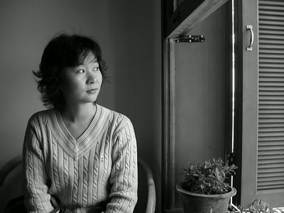 Helen in coffe shop: 2002