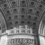 Underside of Arc de Triomphe [BW]