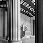 Lincoln Memorial Vertical Panorama [BW]