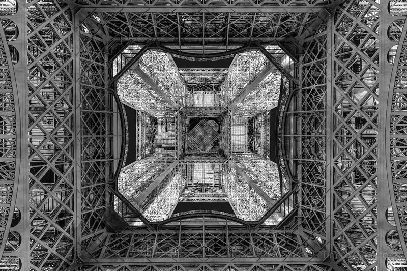 Eiffel Tower Underside [BW]