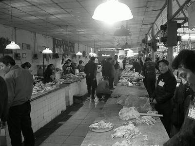 Beijing, meat market
