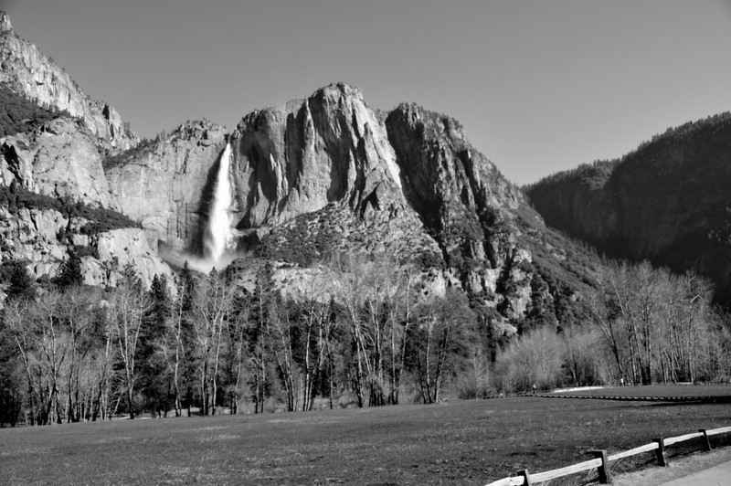 Distant View of Upper Yosemite Fall