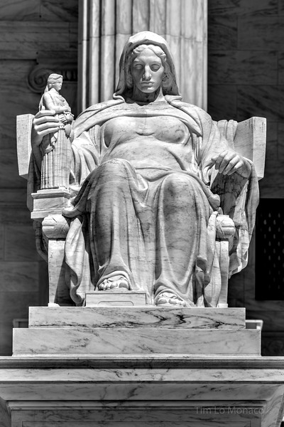 Contemplation of Justice Statue at the Supreme Court [V1]