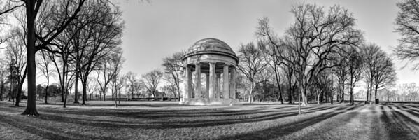 DC World War I Memorial in Winter [BW]