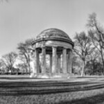 DC World War I Memorial in Winter [BW]