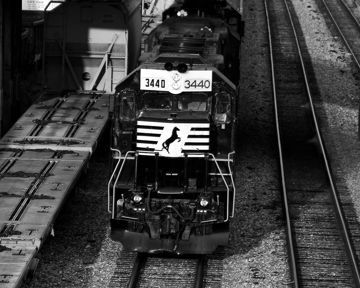Norfolk Southern Locomotive Passing Through Birmingham