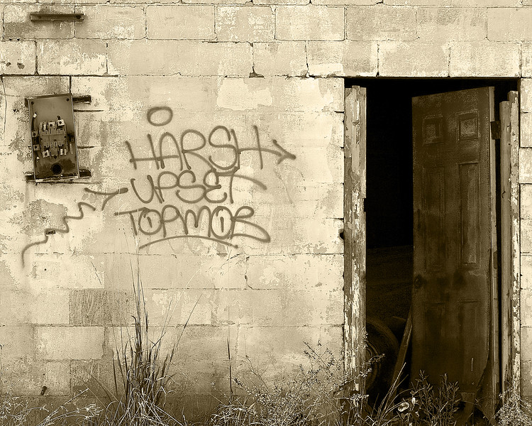 9th Ward New Orleans after Hurricane Katrina monochromatic photography