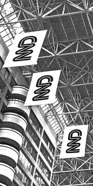 CNN Atlanta Black and White