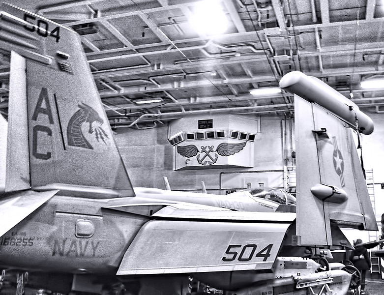 Nimitz Class Carrier USS Harry S Truman Hangar Deck.