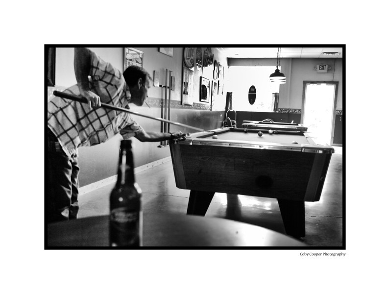 A midday game of 8 ball. Shot in Spencer, Indiana this weekend