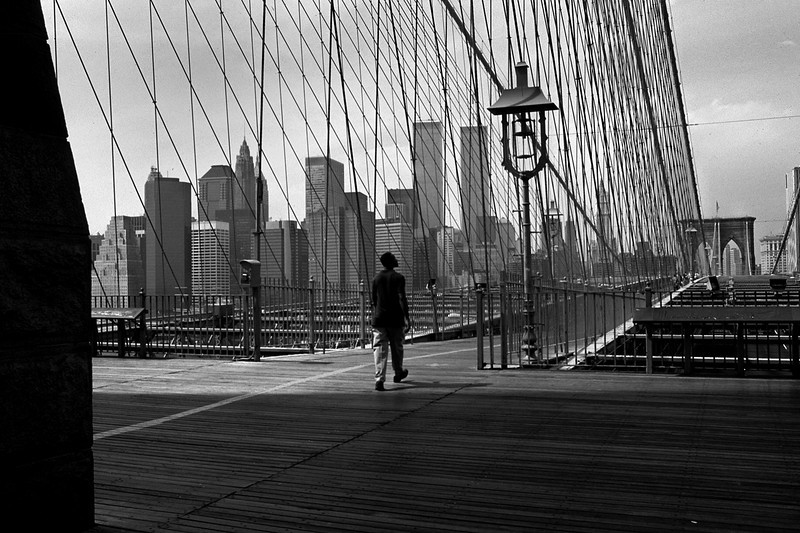Walking on the Brooklyn Bridge