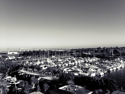 Marina and Coronado Bridge, San Diego