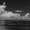 Cloudscape with single boat