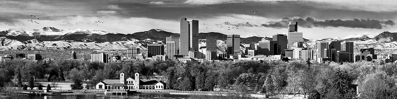 Mout Evans and Downtown Denver