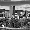 Mount Evans and Downtown Denver