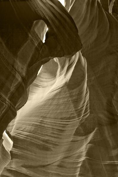 Antelope canyon, digital sepia image