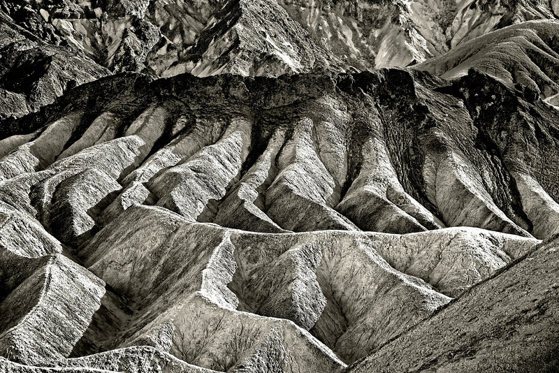 Zabrinski Point Death Valley. First Place in Large Monochrome prints Camera Rochester, 4/1/13  Second Place monochrome NFRCC