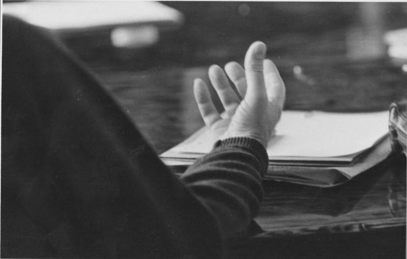 Lorenzo Semple's hand. 1972.