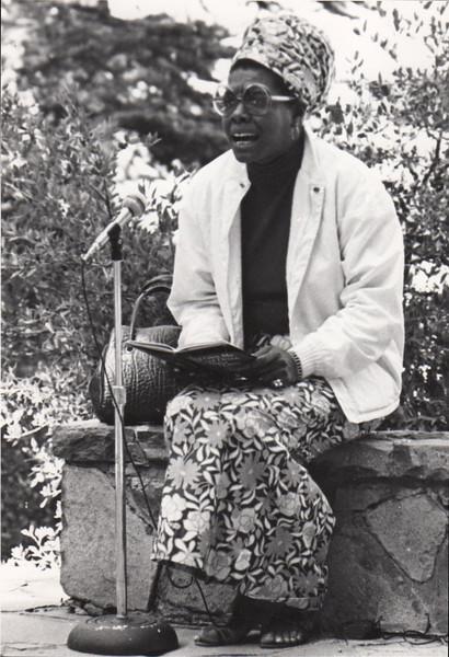 Maya Angelou. 1971.