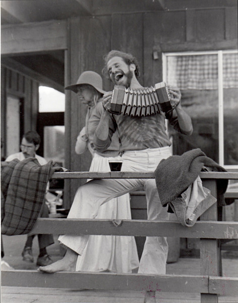 Steven Mannum (sp?) Hannum (sp?). The Playwright as Accordian Player. 1974.  [photo credit: Tracy Hall]