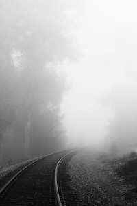 Fog on the train track