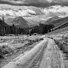 Road to the Sawtooth Mountain Range.<br /> Idaho.