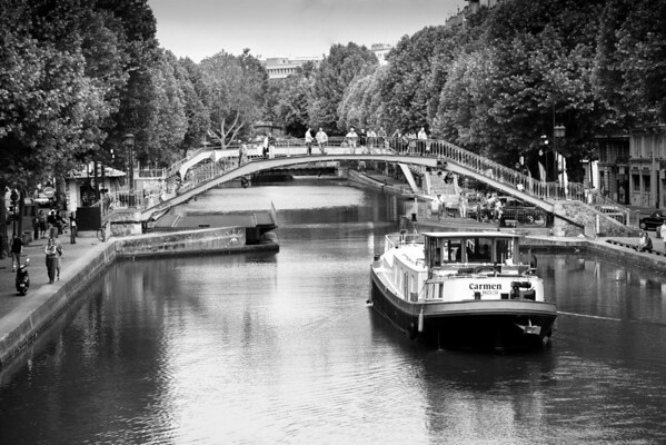 Canal Saint Martin, Paris, France.