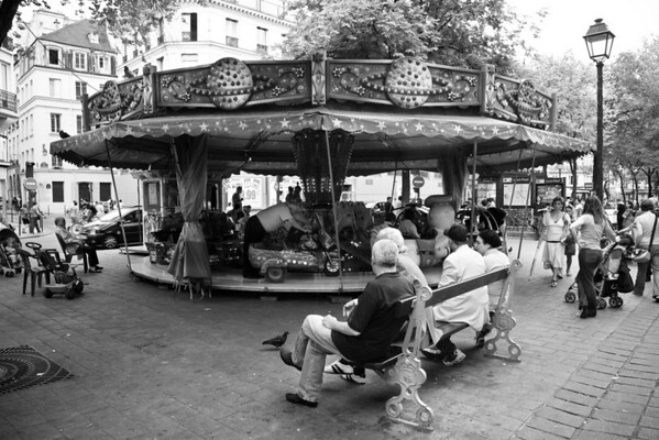 Manege dans le Marais, Paris, France.