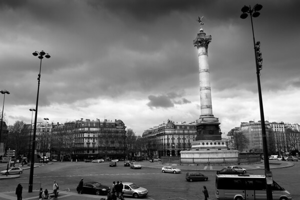 Place de Bastille. Paris, France.