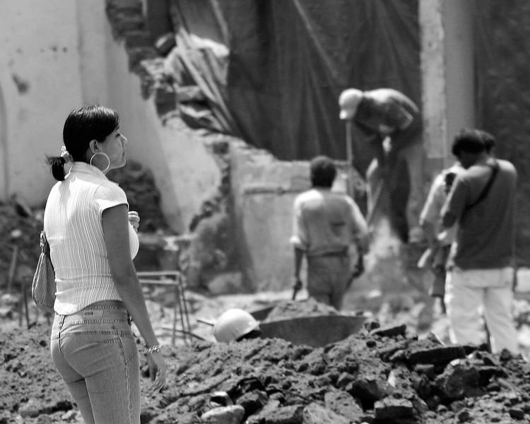 Ica, Peru 2007 earthquake damage