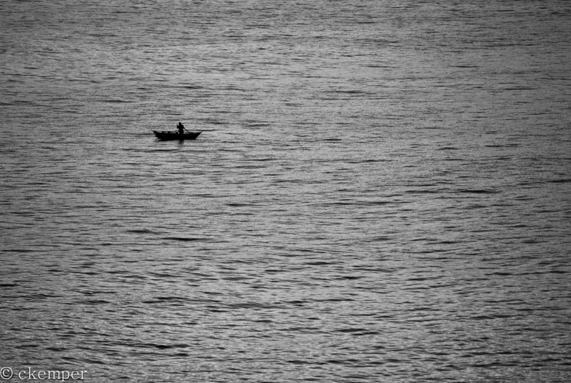 Solo Fisherman at Sea<br /> Sri Lanka