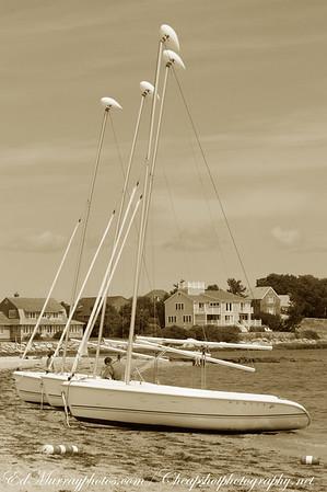 4 masts....3 boats