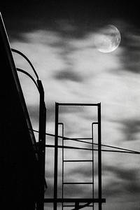 moon over brooklyn rooftop