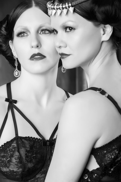 Models: Meagan Lee Farrell and Tiffany Napolitano;  MUAs: Guerline Fequiere and Virginia Dervil; Hair Stylists:  Johanna Bolanos and Cassandra Normil; Wardrobe Designer/Stylist: Adrina Dietra