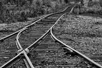 Ontario Northland Railway Track, James Bay Lowlands, Moose River, Ontario, Canada