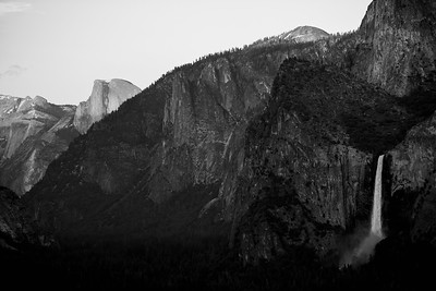 Bridal Veil Falls and Half Dome