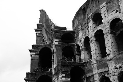 Roman Colosseum (Coliseum), originally the Flavian Amphitheatre at the Temple of Peace in Rome, Italy