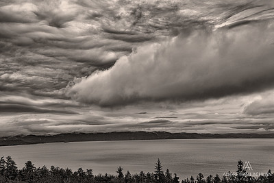 Storm Clouds Over Agawa Bay, Lake Superior Provincial Park, Ontario, Canada