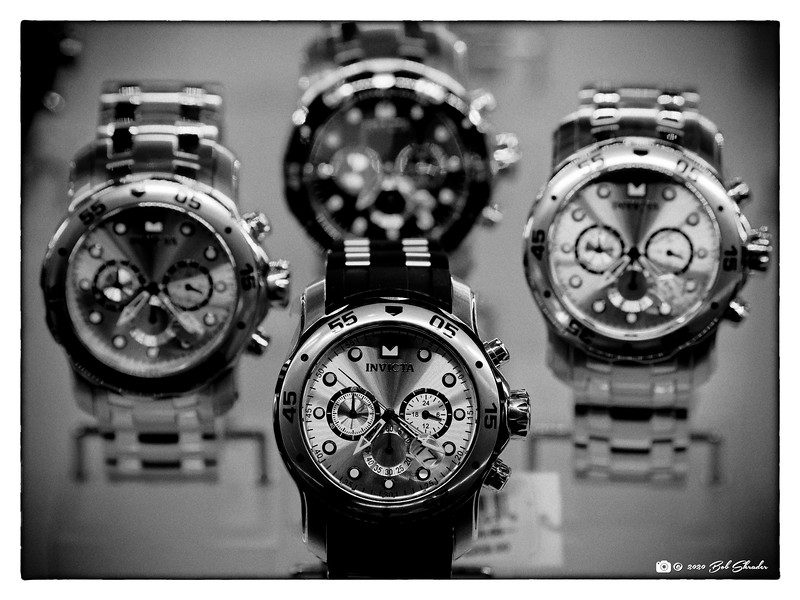Watches in Black and White