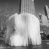 The frozen Josephine Shaw Lowell Memorial Fountain located in Bryant Park, New York City