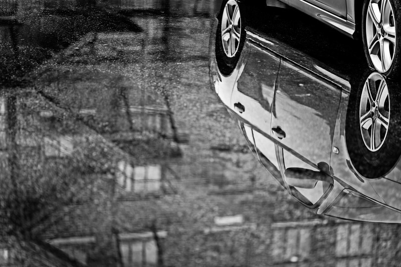parking lot puddle reflection