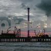 Sunrise at Pleasure Pier, Galveston, TX No 4197
